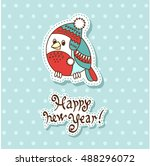 vector christmas card with... | Shutterstock .eps vector #488296072