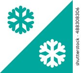 green snow flake christmas icon ... | Shutterstock .eps vector #488308306