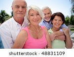 group of happy senior people | Shutterstock . vector #48831109