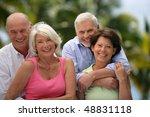 group of happy senior people | Shutterstock . vector #48831118