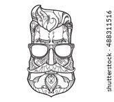ornate hipster vector... | Shutterstock .eps vector #488311516