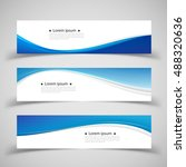 set of banner templates. modern ... | Shutterstock .eps vector #488320636