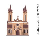 Catholic Church Icon Isolated...
