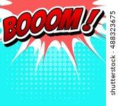comic speech bubble  cartoon | Shutterstock .eps vector #488323675