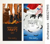 vertical banners for halloween... | Shutterstock .eps vector #488327995