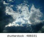 Sun Peeking Through Dark Clouds