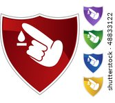 diabetes test icon set | Shutterstock . vector #48833122