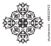 vintage baroque element... | Shutterstock .eps vector #488332915