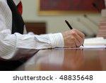 business meeting details ... | Shutterstock . vector #48835648