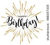 happy birthday. beautiful...   Shutterstock .eps vector #488357335
