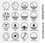 all skin icon vector version 2 .... | Shutterstock .eps vector #488360992