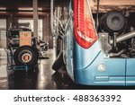 bus and truck waiting for... | Shutterstock . vector #488363392