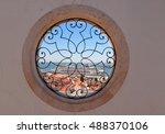 cruise liner in lisbon harbor...   Shutterstock . vector #488370106