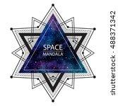 space  cosmic mandala... | Shutterstock .eps vector #488371342