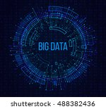 big data visualization.... | Shutterstock .eps vector #488382436