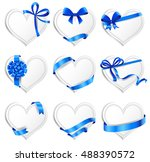 set of beautiful heart shaped... | Shutterstock .eps vector #488390572