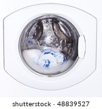 Small photo of Window washing machine with a washable linen