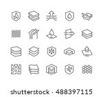 simple set of layered material... | Shutterstock .eps vector #488397115