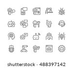 simple set of robots related... | Shutterstock .eps vector #488397142
