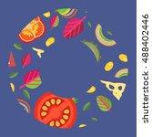 vector background in a wide... | Shutterstock .eps vector #488402446