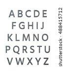 metal alphabet. 3d rendering | Shutterstock . vector #488415712