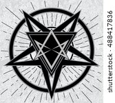 baphomet sign with thelema... | Shutterstock .eps vector #488417836