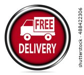 free delivery red button  car...   Shutterstock .eps vector #488422306