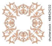 vintage baroque element...   Shutterstock .eps vector #488424232