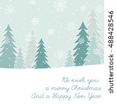 christmas and new year's card | Shutterstock .eps vector #488428546