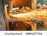 Small photo of The Flame sparks with wind grinder Change the swaying back and forth all the time.