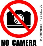 no camera  sticker | Shutterstock .eps vector #488431702