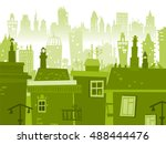 city background made of... | Shutterstock .eps vector #488444476