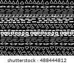 aztec vector pattern. repeating ... | Shutterstock .eps vector #488444812