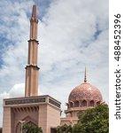 pink mosque in putra jaya city  ...   Shutterstock . vector #488452396