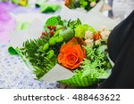 beautiful classic wedding... | Shutterstock . vector #488463622