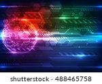 vector digital global... | Shutterstock .eps vector #488465758