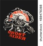 ghost rider | Shutterstock .eps vector #488478388