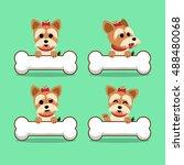 set of cartoon character... | Shutterstock .eps vector #488480068