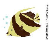tropical fish 4. vector | Shutterstock .eps vector #488491612