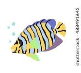 tropical fish 2. vector | Shutterstock .eps vector #488491642