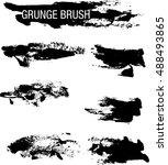 vector set of grunge brush... | Shutterstock .eps vector #488493865