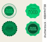 vector farm badge set of fresh...