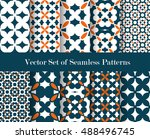 floral abstract patterns... | Shutterstock .eps vector #488496745