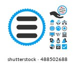 stack icon with bonus icon set. ...