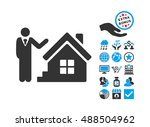 realty agent pictograph with... | Shutterstock . vector #488504962