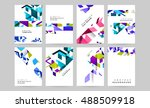 templates. business covers for... | Shutterstock .eps vector #488509918