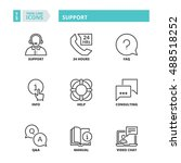 flat symbols about support.... | Shutterstock .eps vector #488518252