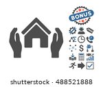 realty insurance hands icon... | Shutterstock . vector #488521888