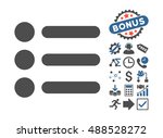 items pictograph with bonus... | Shutterstock . vector #488528272