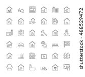 thin line icons set. flat... | Shutterstock .eps vector #488529472